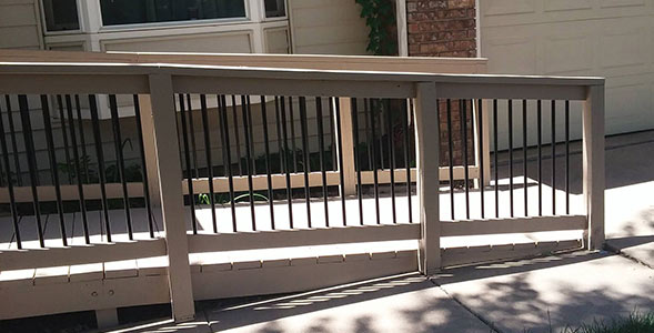 Wheelchair Ramp Front Porch Deck