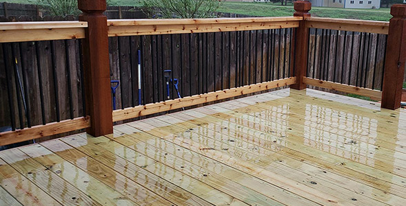 Deck Builder - Large Custom Wood Deck