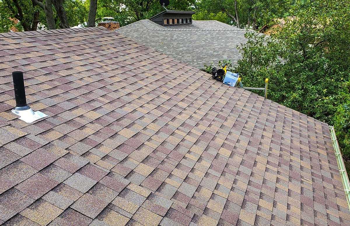 This roof has been replaced by the Above and Beyond Roofing Contractors.