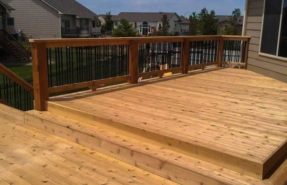 Relaxing, welcoming, and comfortable wood decks by Above and Beyond